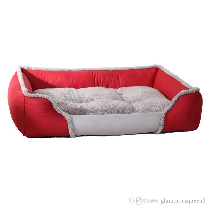 Textiles Reversible Rectangle Pet Bed with Dog Paw Printing Pet Bed Mats Products Dog Bedding Cat Supplies