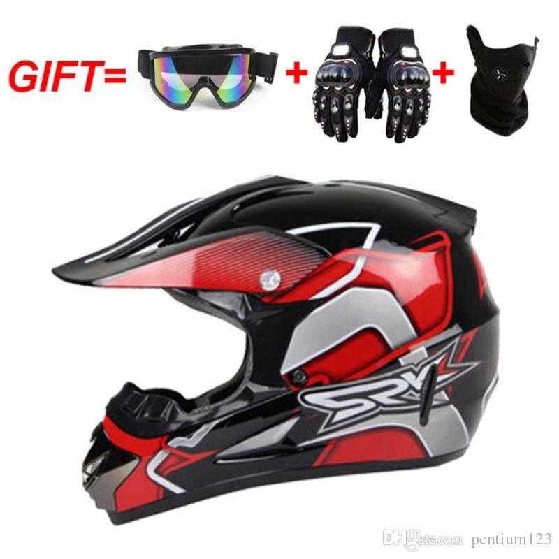 gözlük eldiven ile yol motosiklet çapraz yarış kask noktadan uzak MTB DH aşağı motosiklet kask için Motosiklet çapraz maske