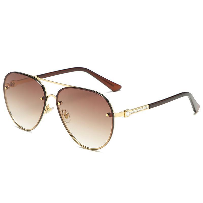 Europäische und amerikanische Mode-Trend Classic-Teil der Metal Sonnenbrille Frauen Kröten-Spiegel im Retro passende heiße Sonnenbrille