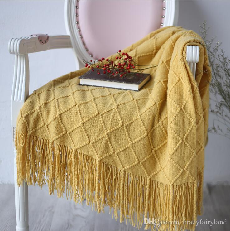 Soft Blanket Knitted Throw Sofa Office Nap Air Conditioning Blankets Home Decor