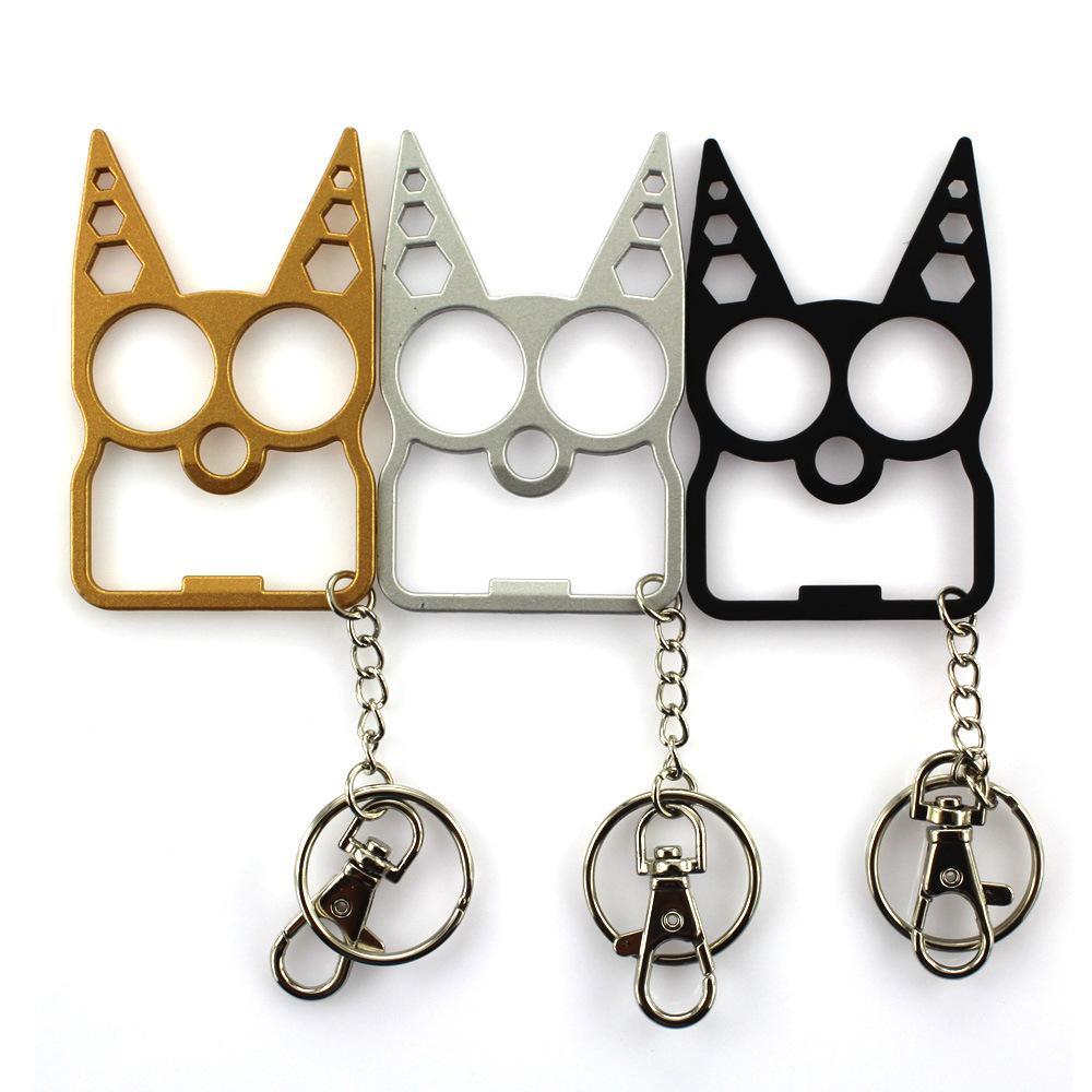 올빼미 병 오프너 열쇠 고리 만화 아연 합금 키 체인 홀더 렌치 스 패너 키 체인 링 도구 6in1 다기능 쥬얼리 선물 기념품