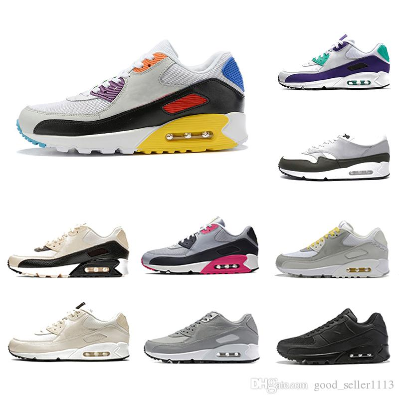 Be True Neon Acentos negro Rojo 90 Hombres Running Essential Mars Pale Ivory Laser Fuchsia Shoes 90s Mens Cushion Sports Sneakers 36-45