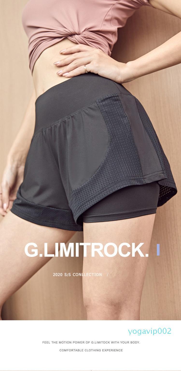 Dans des vêtements de yoga Stock Sport professionnel running femmes shorts lâche vitesse yoga été sec pantalon de formation perméable à l'air porter à l'extérieur