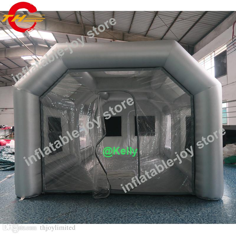 wholesale 8x4x3m good quality inflatable spray booth for sale portable inflatable paint booth 26x13x10ft big spray tent for car painting