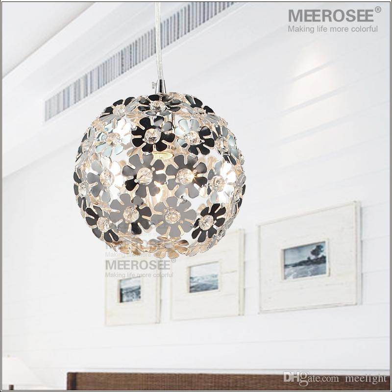 Flower Crystal Pendant Light Fixture Aluminum Ceiling Lamp Lighting Chandelier