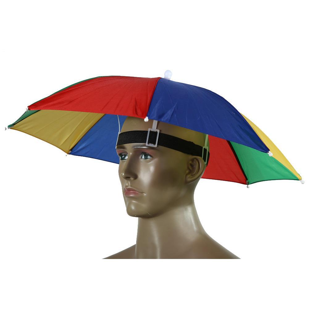 55 cm Mains libres Usefull Parapluie Chapeau Pêche Randonnée Camping Parasol Festivals d'extérieur Chapeau pour l'extérieur