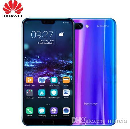 """Smartphone Huawei Honor 10 4GB 128GB NFC Mobile phone Curved Glass Android 8.1 OctaCore 5.8"""" Screen 2280x1080pix Camera 3400mAh"""