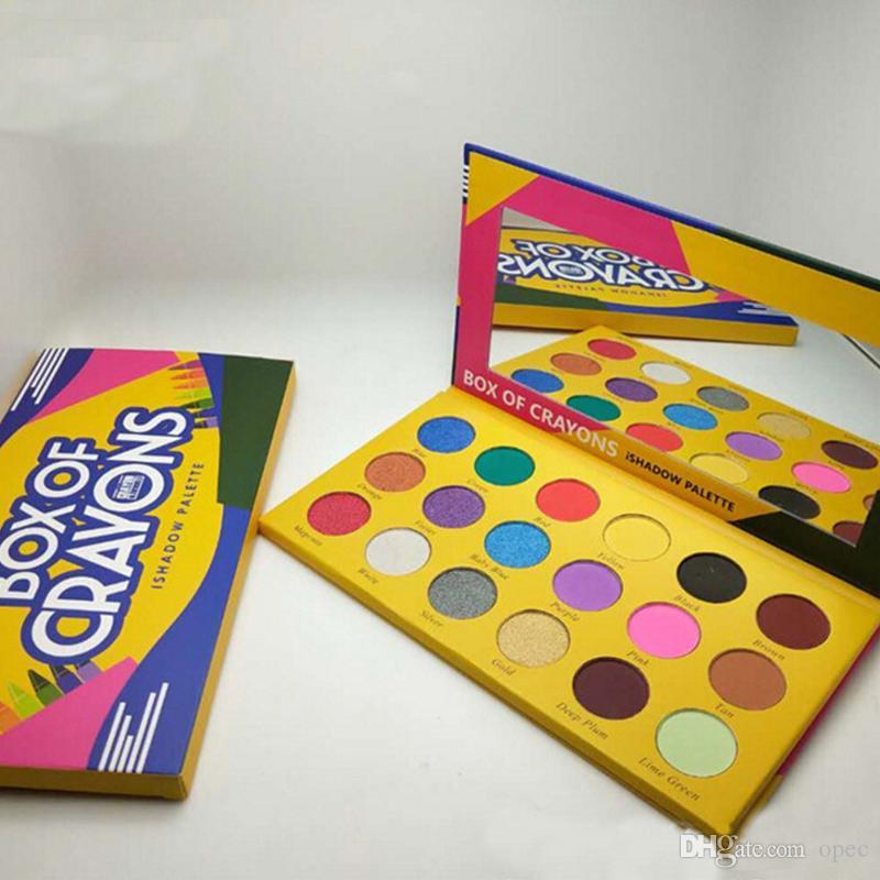 صندوق مستحضرات تجميل الطباشير الملونة لوحة ألوان 18 لوحة ألوان Eyeshadow باليت Shimmer Matte EYE beauty dhl shipping