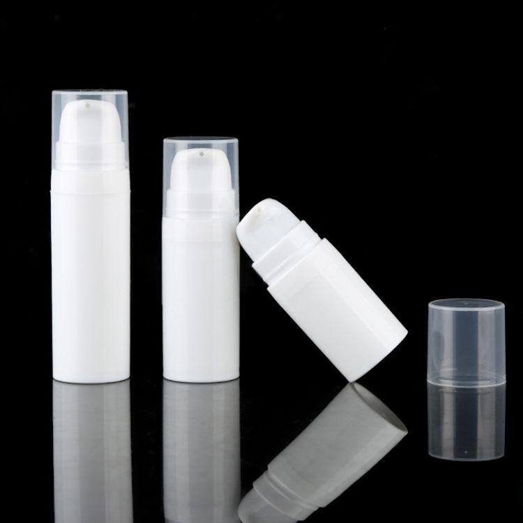 5ml 10ml Weiß Airless Flaschenlotion Pumpe Mini Probe und Testflaschen Vakuumbehälter Kosmetische Verpackung