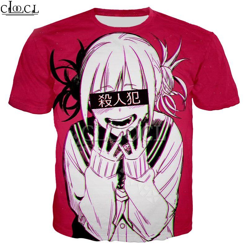 2020 Новый стиль Sexy Anime Girl My Hero Academia Ahegao Manga 3D Printed T Shirt Женщины Мужчины с коротким рукавом Повседневная Tops Уличная