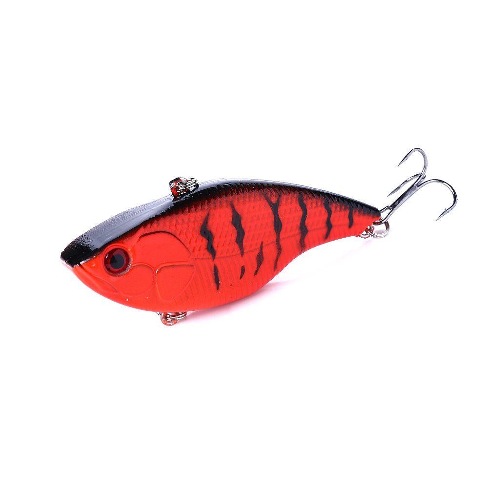 HENGJIA 7.5cm 18g VIB Vibrations Fishing Lure Bait 1pc Deep Diving Swimbait Vibration with Artificial Hrad Plastic