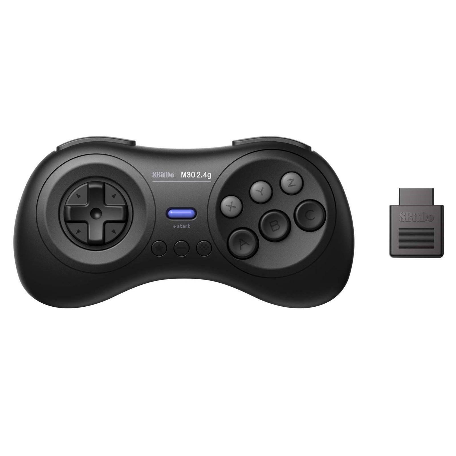 8bitdo M30 2.4G Kablosuz Mega Windows PC için Nintendo Anahtarı için oyun kumandası Oyun Denetleyici - Siyah