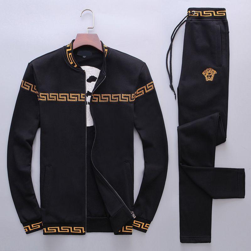 Мужчины вышивка досуг Спорт Li воротник костюм 0307-01