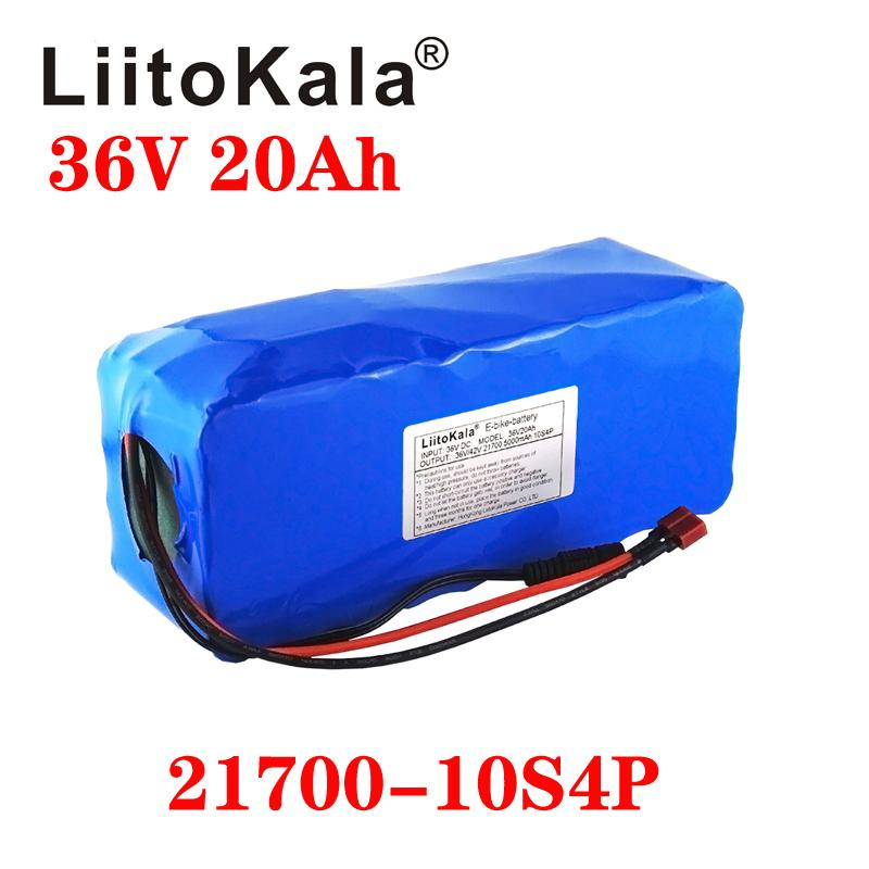 LiitoKala 21700 batterie 36V 30Ah 25Ah 20Ah 15ah batterie d'alimentation 500W haute batterie d'alimentation 42V Ebike vélo électrique BMS