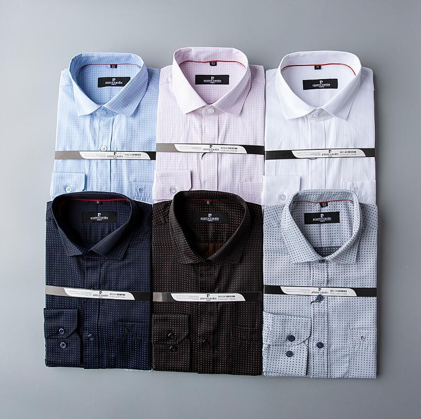 Nuevos 2020 moda casual de negocios manga larga para hombre camisas Oficina Slim Fit formal de la manera formal shirt56