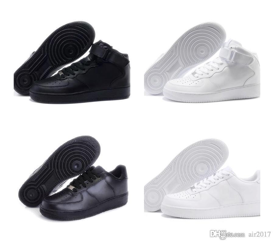 Compre 2020 Nike Air Force One 1 AF1 Nuevo Uno 1 Zapatos Para Hombres  Mujeres Blancas Negras Del Deporte Para Hombre De Las Zapatillas De Deporte  Al ...