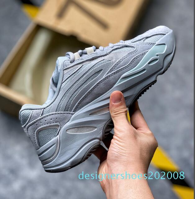 2020 Kanye West azul del hospital 700 hombres, mujeres, zapatillas de deporte para hombre d08 3M reflectantes formadores deportes de la moda zapatillas de deporte