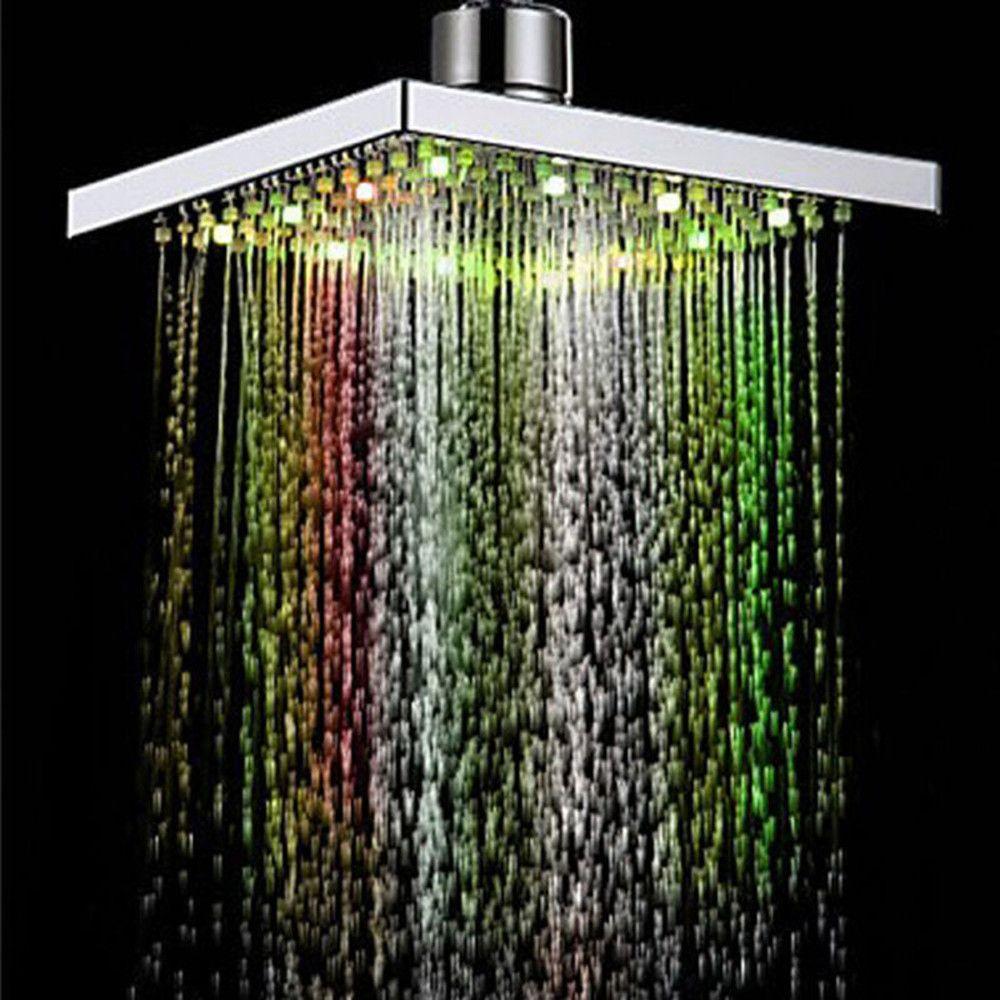 cabezal de ducha colores Cambio automático LED multicolor aspersor chorro aire