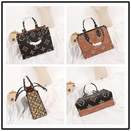 TOP new ONTHEGO designer luxury handbags women leather handbag shopping messenger Shopping bag shoulder bag pockets Totes Cosmetic Bag