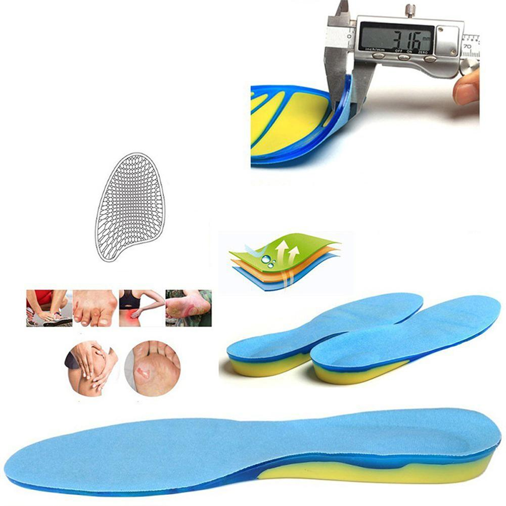 Unisex Sport TPE Walking Stable Cushion Non-Slip Foot Care Shock Absorption Running Insert Military Shoe Pad Orthopedic Insole