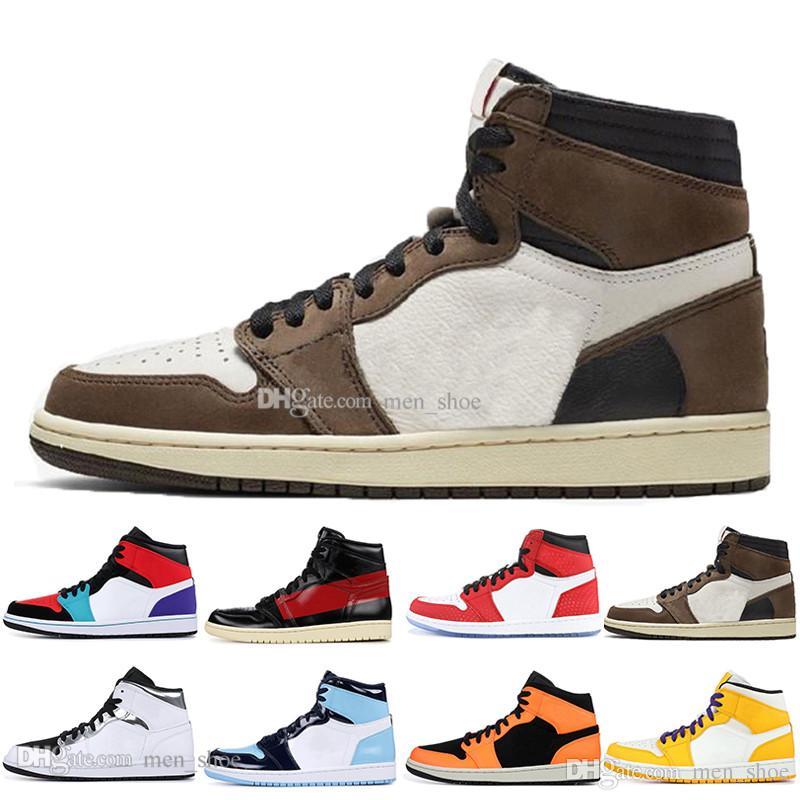 1 High OG Travis Scotts Basketball shoes Spiderman UNC 1s top 3 Mens Homage To Home Royal Blue Men Sport Designer Sneakers Trainers