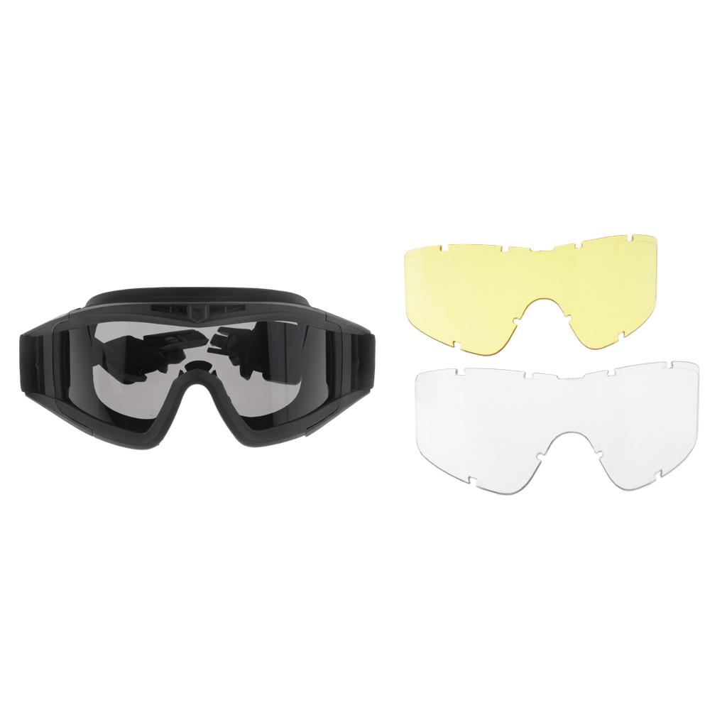 RÁPIDO MICH anteojos del casco Vidrios para el casco con 3 lente de disparo Hunting