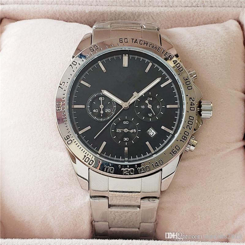 Sport mens B0SS orologi di lusso Big 44 millimetri in acciaio inox orologio da polso in oro rosa Progettista femminile orologi cronografo Movimento Multi-color