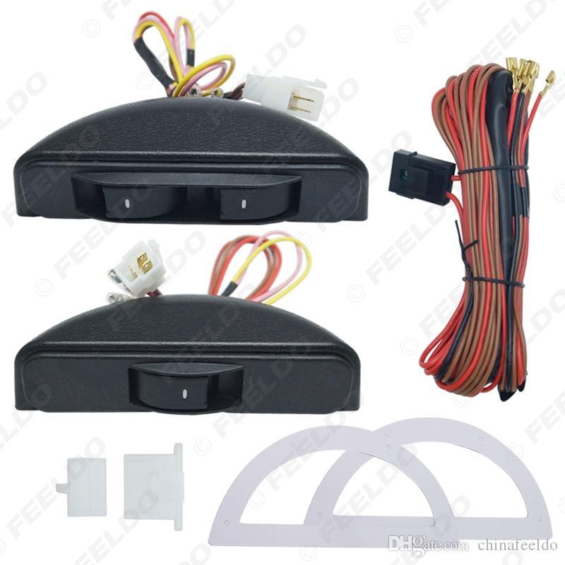 12-24 V Universal Car Switch Window Regolator Switch 3pcs Porta Interruttore con staffa e cablaggio # 3436