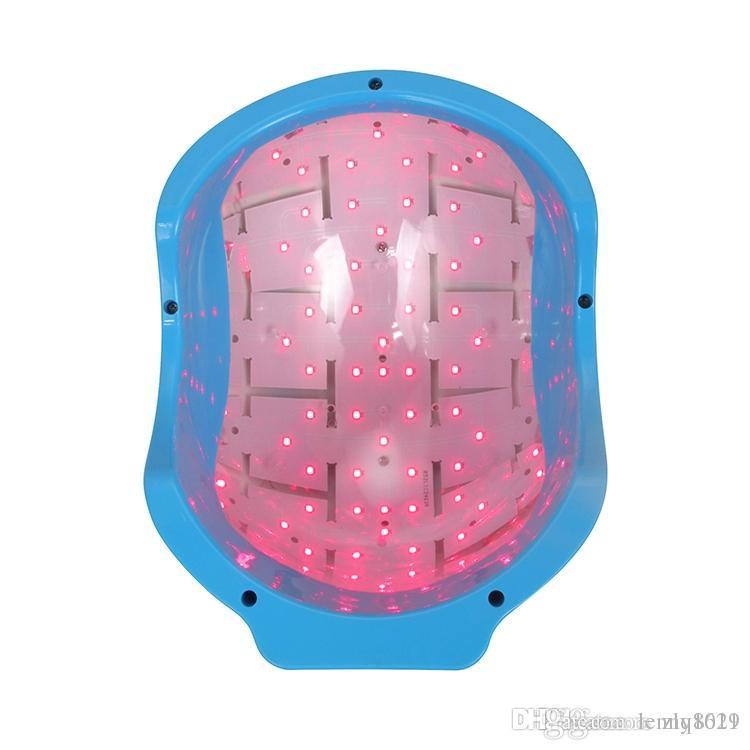 2019 최신 탈모 자라나는 성장 (80) 다이오드 레이저 치료 휴대용 가정용 캡 헬멧 LED 탈모증 치료 장치 아름다움 계기