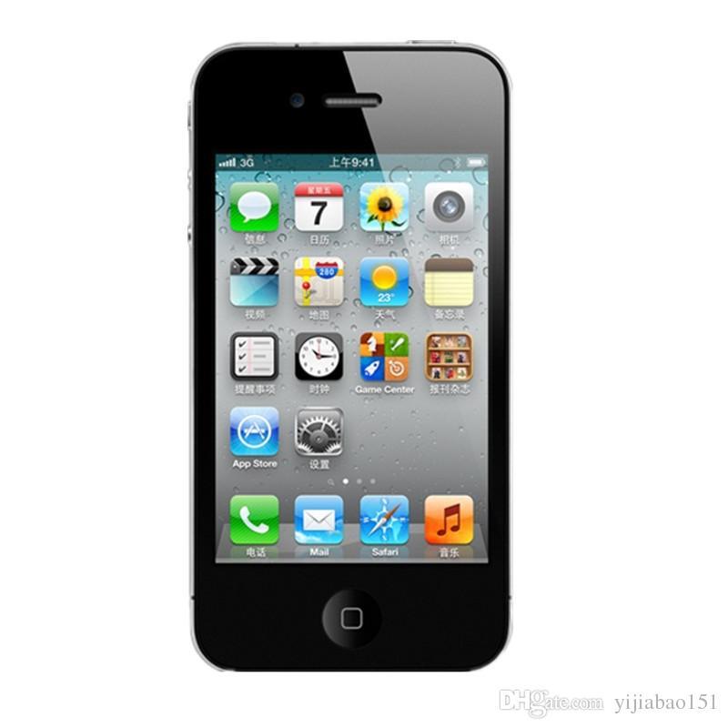 Refurbished Original Unlocked Apple Iphone 4 Cell phone 3.5'' Screen 8GB/16GB/32GB GPS WIFI Dual Camera Free Shipping