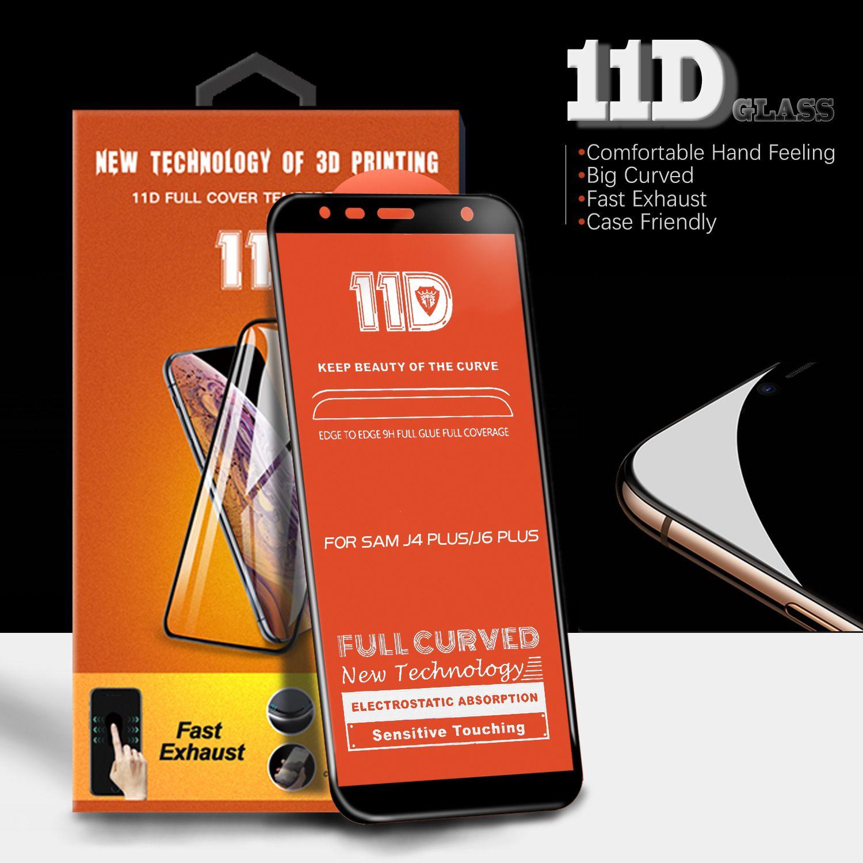 11d tam kavisli temperli cam için iphone xs max için xr 6 7/8 artı perakende ambalaj ile galaxy m10 m20 a30 a50
