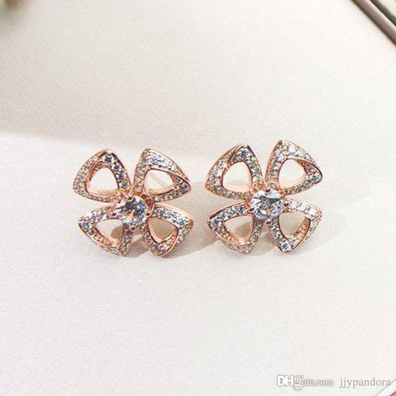 Jewelry di modo degli orecchini ORSA 2019 disegno della parte superiore di marca orecchini in oro rosa partito delle signore all'ingrosso di fascino di trasporto