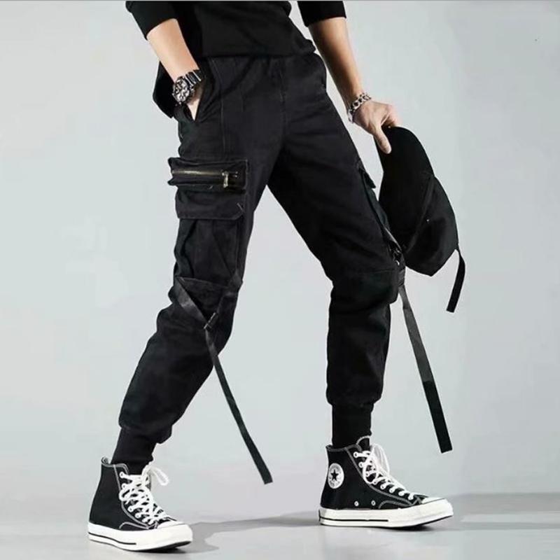 Carga Multi-Pocket Hip Joggers Pantalones Masculinos Pantalones Sólidos Casual Pantalones Para Hombre Ropa Deportiva Hombres New Hop Harem Lápiz UJCNC
