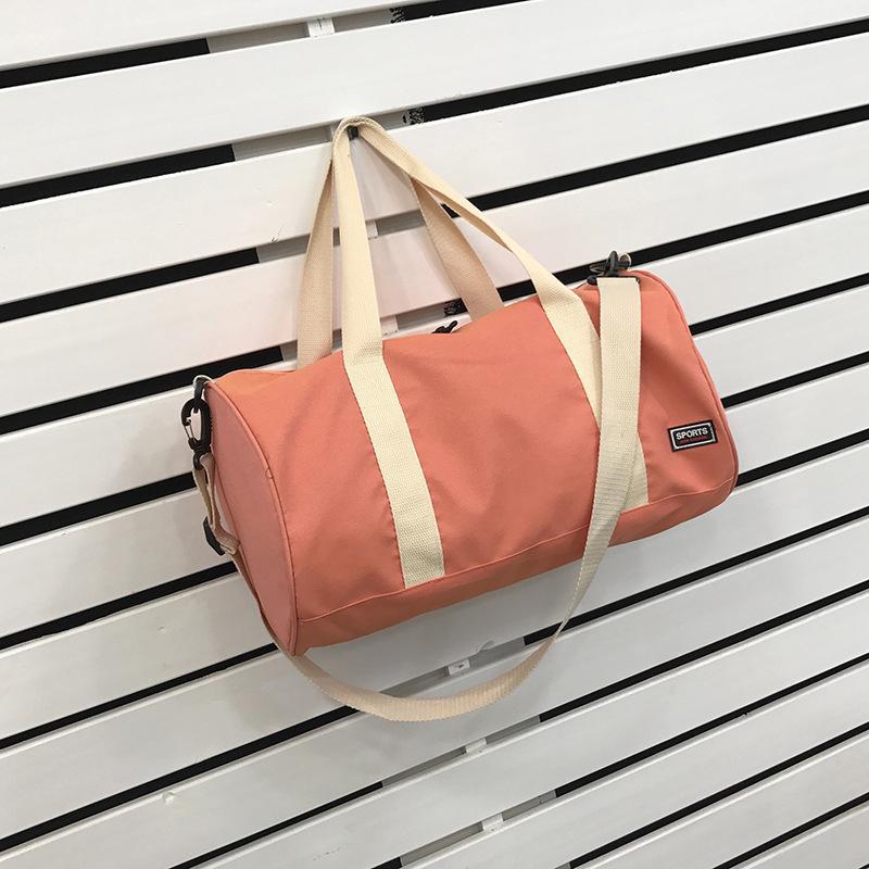 Spalla Cilindro mano borsa da viaggio Duffel Strap Shoes Bit e femminile di nuovo stile di ginnastica di sport degli uomini di Bag