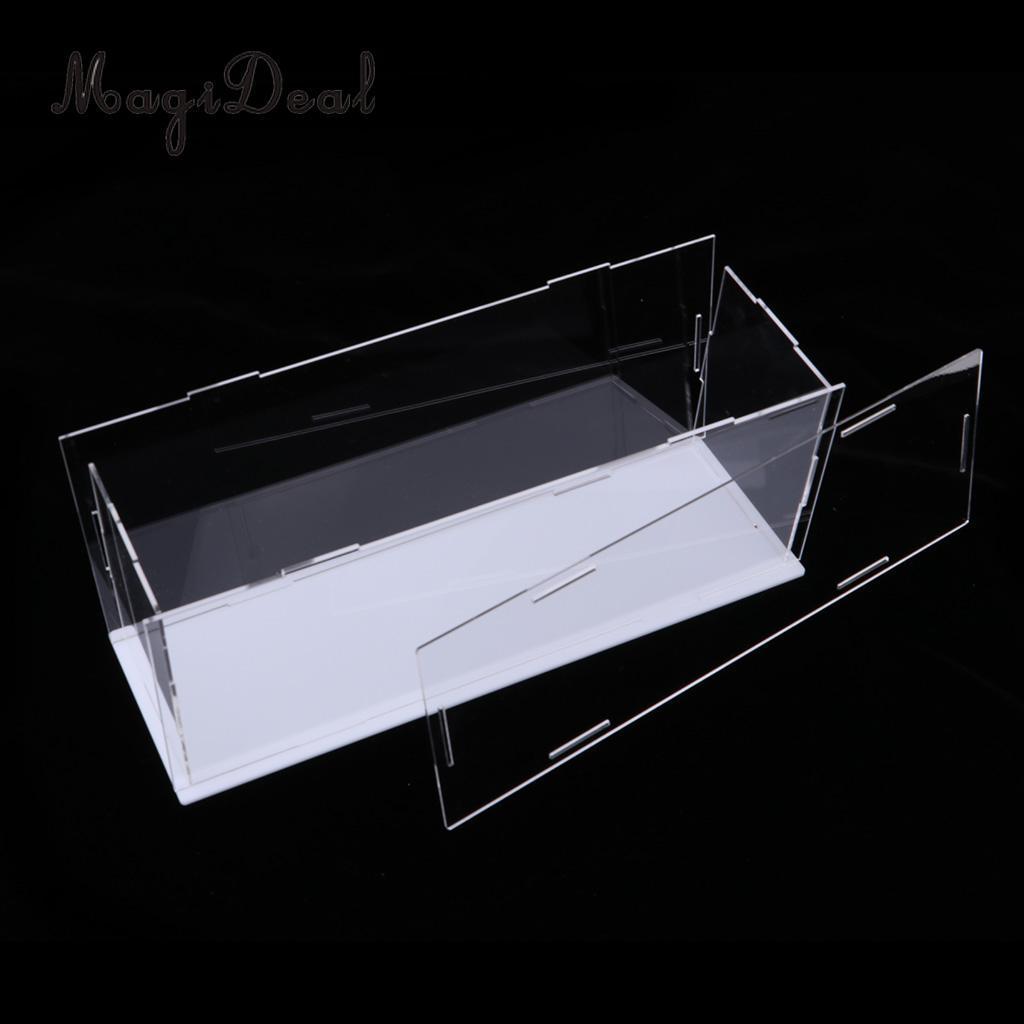 Оптовая продажа современные акриловые игрушки дисплей Show Case пылезащитный Box орнамент инструмент защиты 28x8x11cm