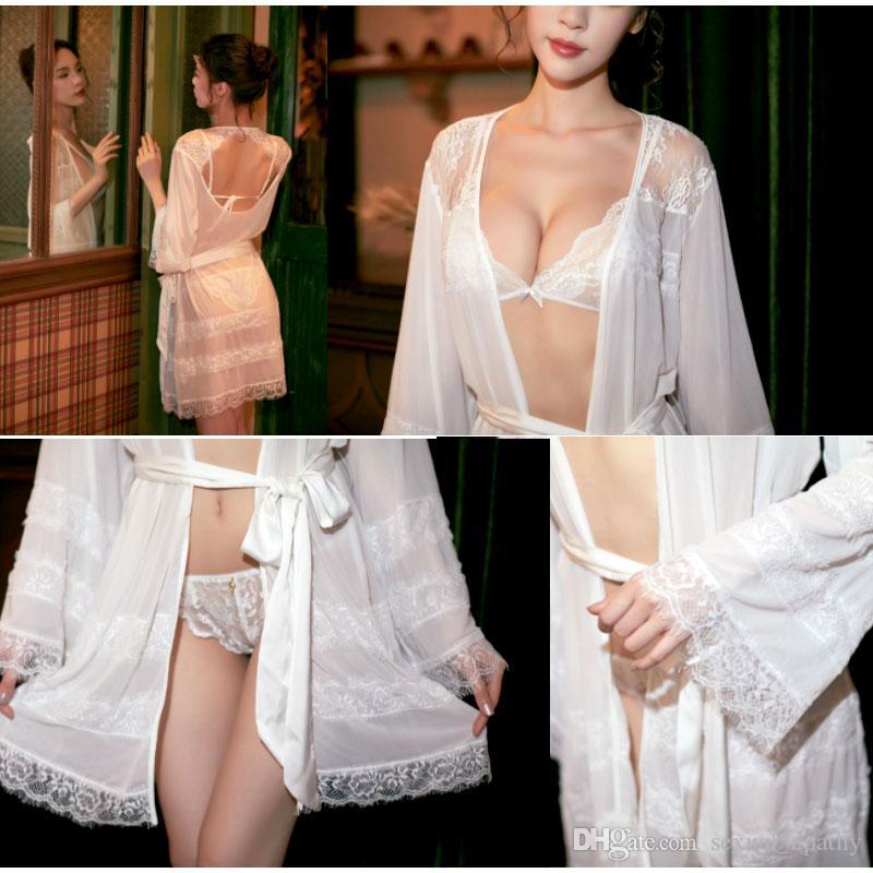 Europa e do adulto sexy lingerie de renda tentação Estados Unidos pijamas sensuais sem encosto coat rendas