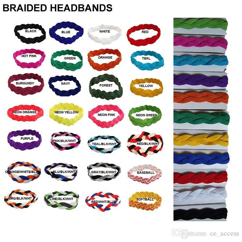 2019 Freies DHL-geflochtenes Stirnband rutschfeste Art schweißt Sport dickes Haar Kopfbänder