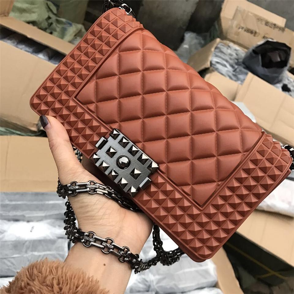 La Designer femminile Borsa a tracolla borse delle signore di Crossbody Bag SGARR modo delle donne del PVC Messenger Borse di alta qualità a catena 2019 Lusso