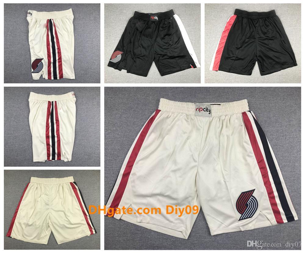 PortlandpistaBlazersJersey Uomini Shorts 00 Anthony 0 Lillard 3 McCollum traspirante pantaloni della tuta Classic Basketball Shorts