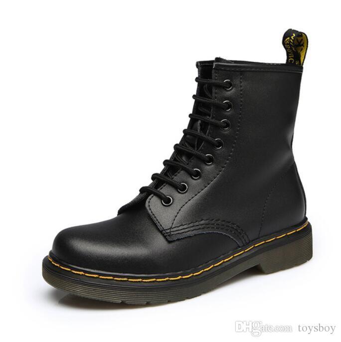 Botines para mujer Zapatos Mujer Primavera Otoño Zapatos de cordones de cuero genuino Punk Plus Tamaño 43 44 Equitación, Equestr Boots