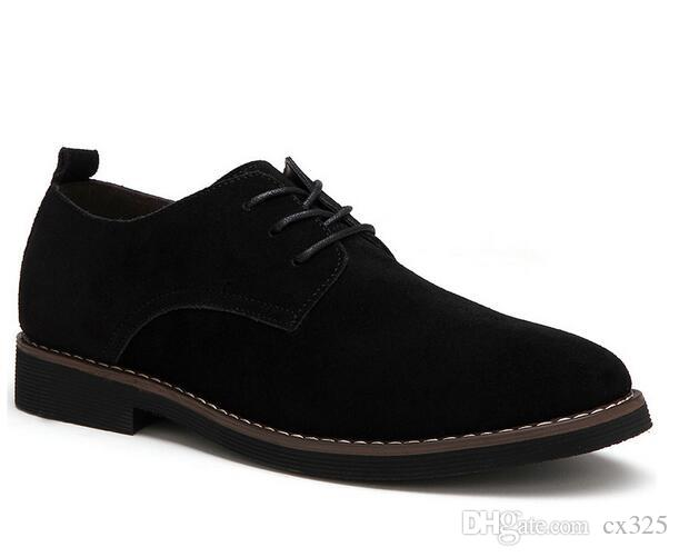 plus size 39-48 genuine leather men casual flats waterproof dress oxford man shoes lace up for work male loafers RXM098
