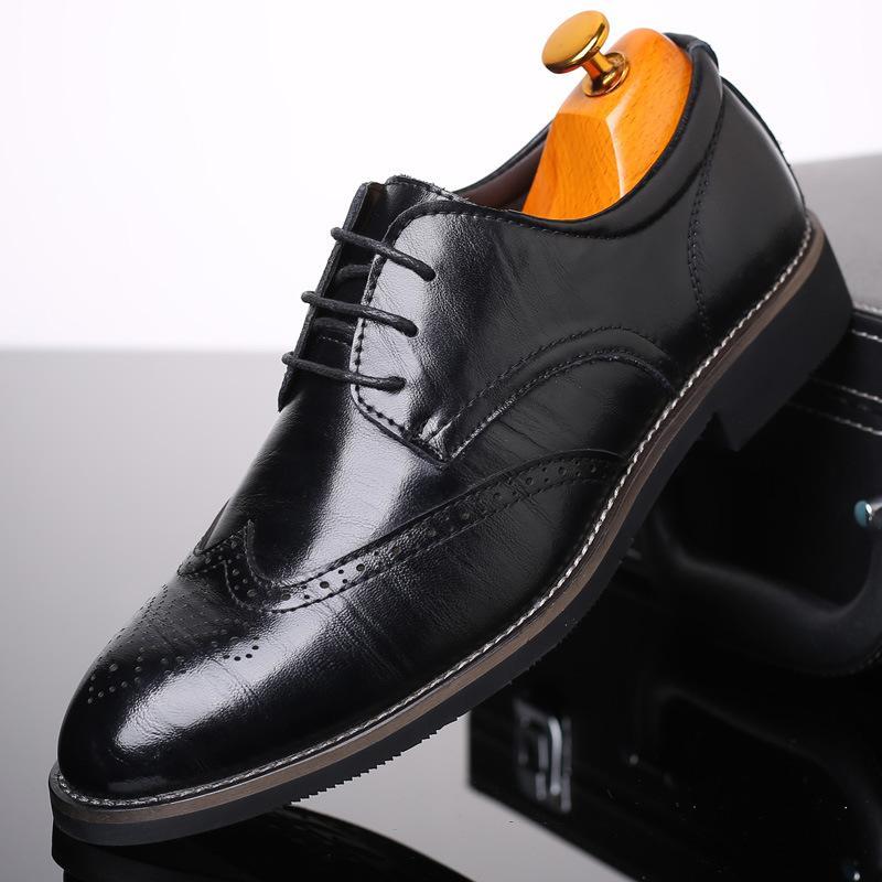 Otoño Nuevo zapatos casuales para hombre británica-Estilo Bullock zapatos de estilo de marea zapatos de cuero de la manera de una generación de grasa