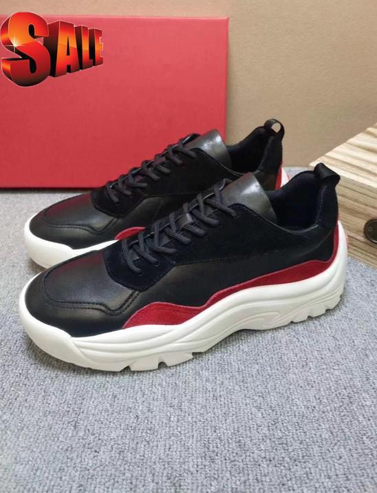 De Luxe Hommes Chaussures Mode Casual En Plein Air plate-forme Footwears Zapatos De hombre Bout Rond Gumboy veau Sneaker VL665 pour hommes bonne T22