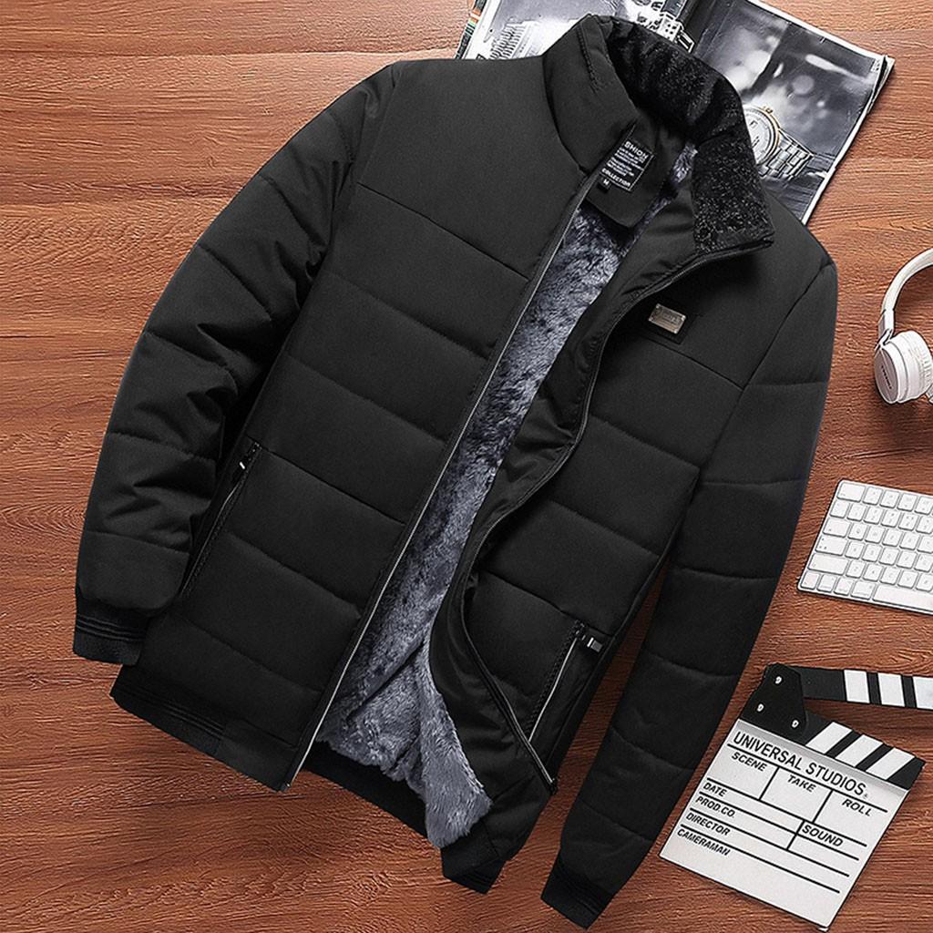 Hommes Automne Hiver manches longues Manteaux Tops Chemisier en peluche coton épais manteau