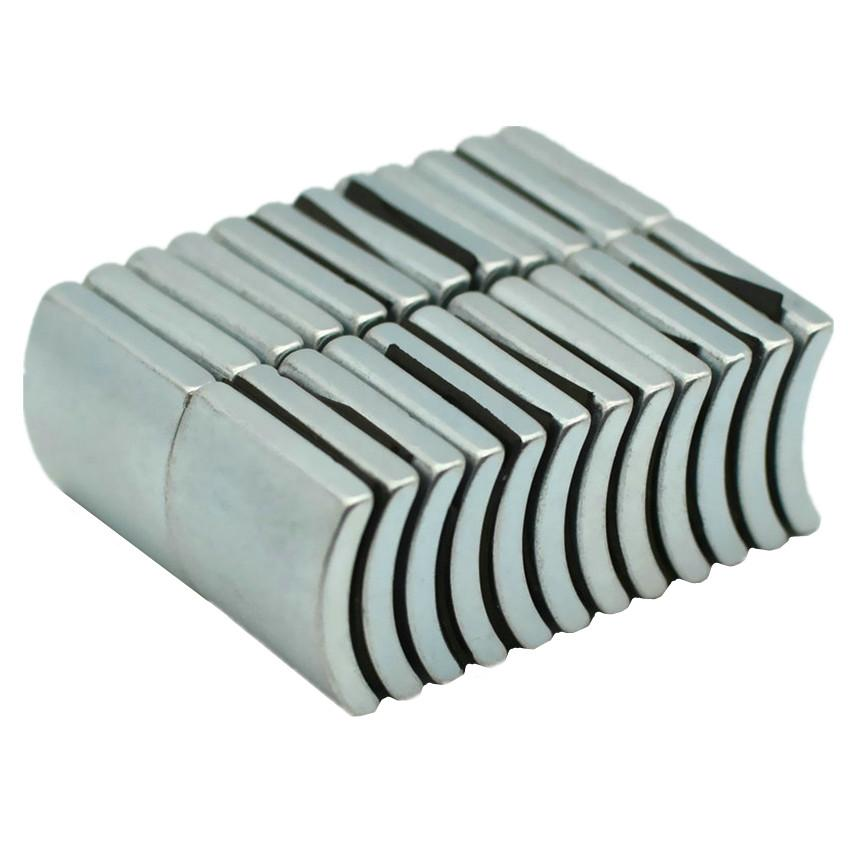 NdFeB Arc Segment OD49xID43x60degx23 mm N38H Diametrically Motor Magnet for Generators Wind Turbine Neodymium Magnet 6pcs