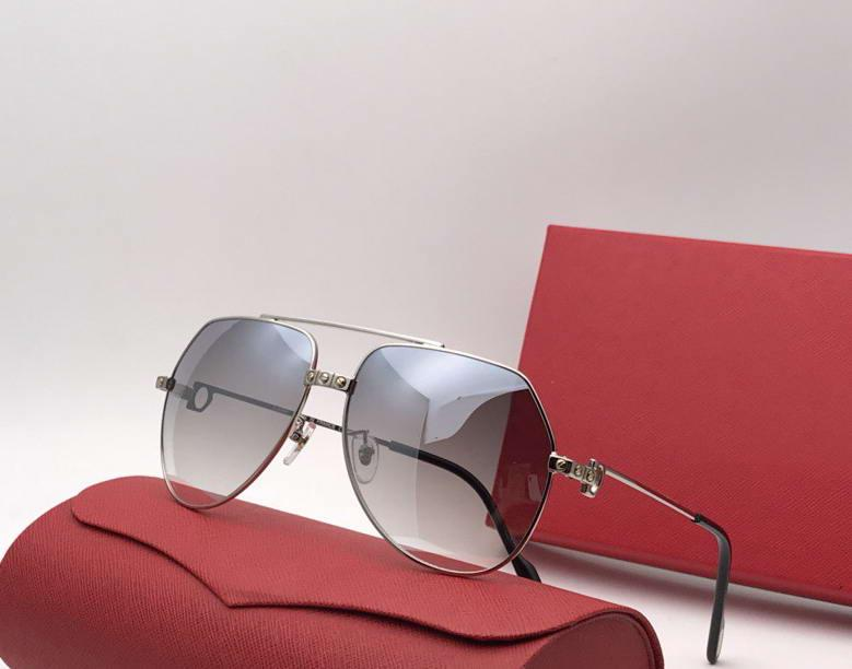 Vendome Luxury-Men Vintage Santos Blue Солнцезащитные очки Blated Gold Len Brand Дизайнер Солнцезащитные очки Новые с коробкой IUQTK