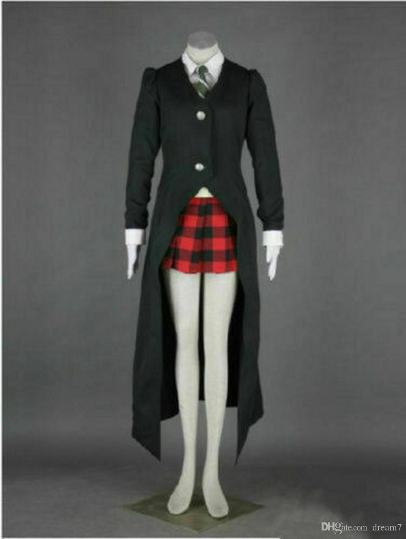 Soul Eater MAKA ALBARN Uniform Custom Made Cosplay Costume Dress Cloak