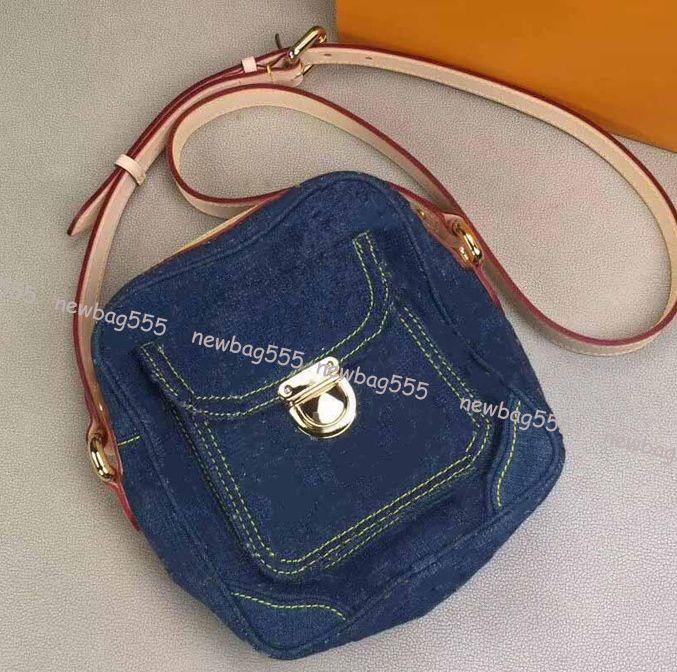 Tüm maç wome mini fermuar kamera çantası yeni marka tasarım erkekler denim flap crossbody çanta omuz çantaları bel çantası cüzdan woc 44468 44466 44460