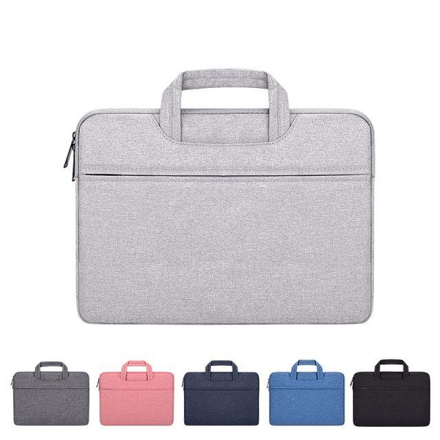 البوليستر للماء وخفيفة الوزن المحمول حقيبة الكمبيوتر المحمول حقيبة بطانة مناسبة لأبل ماك هواوي 15.6 بوصة معرض كيس شعر LOGO مخصص