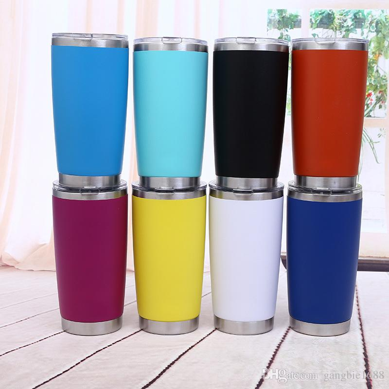 20oz Sportschalen Metall Weithals Wasserflasche Edelstahl Tumblers Kapazität Outdoor Travel Kaffeetassen Home kaffeetassen Freies schiff